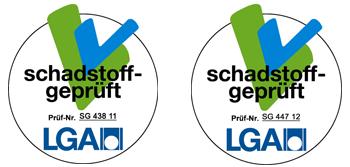 Siegel LGA-schadstoffgeprüft