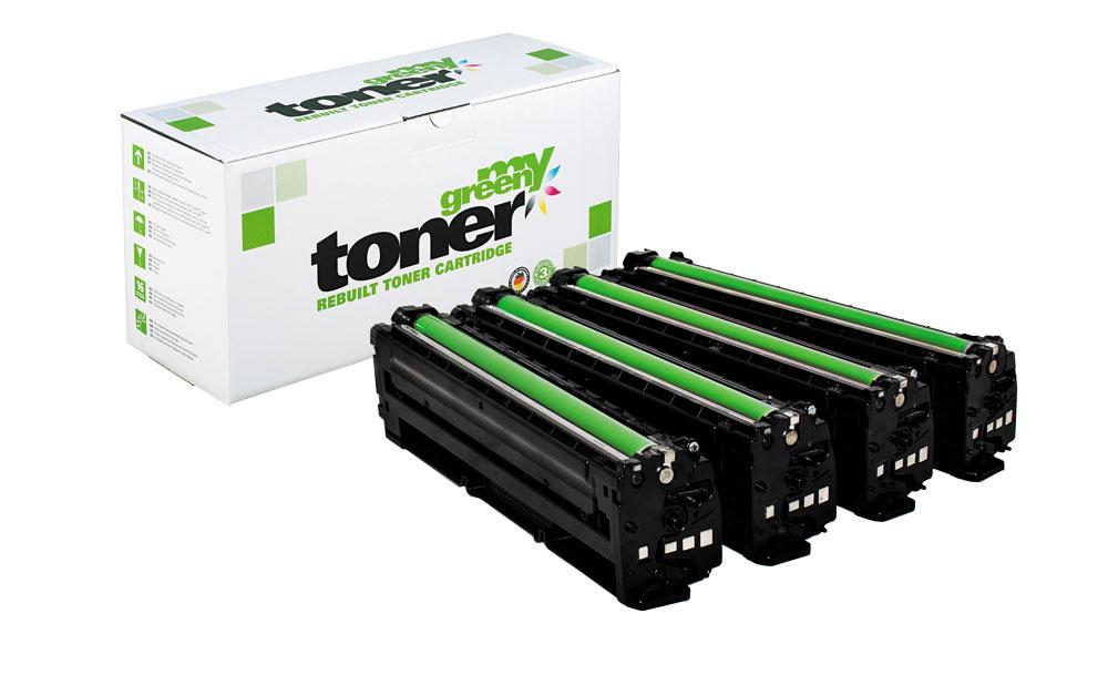 Verpackte Rebuilt Toner der Marke my green toner für verschiedene Drucker